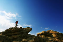 Man on the cliff Royalty Free Stock Photo