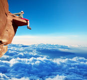 Man on the cliff Royalty Free Stock Photography