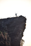 Man on cliff Royalty Free Stock Image