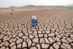 Man and climate change. Drought stock photos