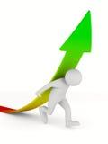 Man climb arrow Royalty Free Stock Image