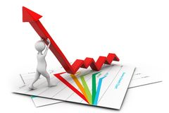 Man climb growth arrow. 3d illustration of Man climb growth arrow Royalty Free Stock Images