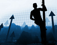 Man climb the way of success Stock Photos