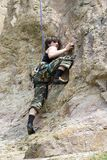 Man Climber. Rock Climbing Sport Stock Photos