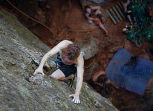 Man climbing Stock Photography