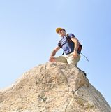 Man climbing Stock Photo