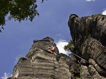 Man Climbing Royalty Free Stock Photography