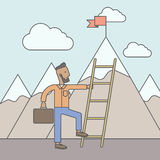 Man climbing the ladder Stock Image