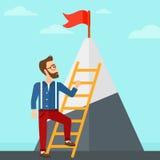 Man climbing on mountain. Stock Photos