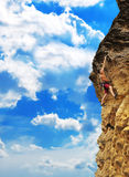 Man climbing on rock Royalty Free Stock Photo