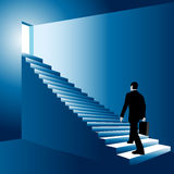 Man climbing the stairs Stock Image