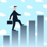 Man climbing success stairs Stock Photo