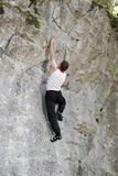 Man is climbing up Royalty Free Stock Photo