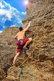 Man climbing Stock Photography