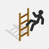 Man climbs the stairs isometric icon Royalty Free Stock Image