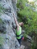 Man climbs up. Stock Photography