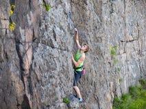 Man climbs up. Stock Photo