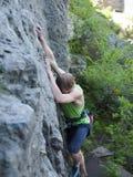 Man climbs up. Royalty Free Stock Images