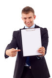 Man with clipboard Royalty Free Stock Image