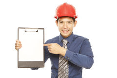Man with a Clipboard Stock Image