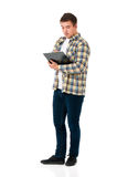 Man with clipboard Royalty Free Stock Photography