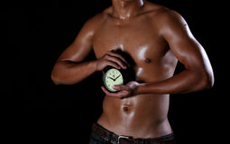 Man and clock 2 Stock Images
