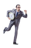 Man with clock Royalty Free Stock Photo