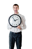 Man and clock Stock Image