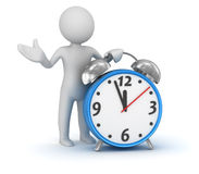 Man and clock. Computer generated image. 3d render Stock Images