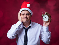 Man with clock. Stock Images