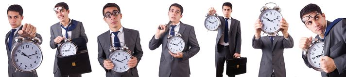 The man with clock Royalty Free Stock Photography