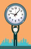 Man with clocks symbolizing time management Royalty Free Stock Photography