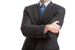 Man with closed posture Royalty Free Stock Image