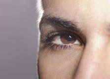 Man closeup eye Stock Photography