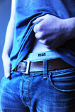 Man. Closeup of a man showing his underwear Stock Photos