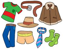 Man clothes collection stock illustration
