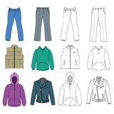 Man clothes colored autumn collection Stock Photography
