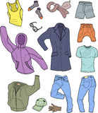 Man clothes colored collection Stock Photography