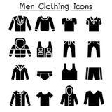 Man clothes icon set royalty free illustration