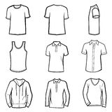 Man clothes set Stock Images