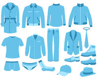 Man clothes set Royalty Free Stock Photo