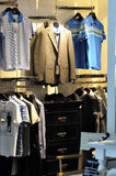 Man clothes showing. Clothes showing for man, including casual suit and t-shirt dress Royalty Free Stock Image