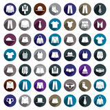 Man clothes vector icon set. Stock Photography