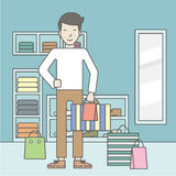 Man in clothing store Stock Image