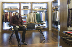 Man clothing store Royalty Free Stock Photo
