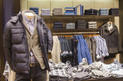 Man clothing store Royalty Free Stock Image
