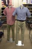 Man clothing store stock image