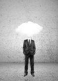 Man cloud  head Royalty Free Stock Photos