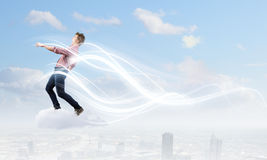 Man on cloud Royalty Free Stock Photo
