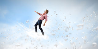 Man on cloud Stock Image